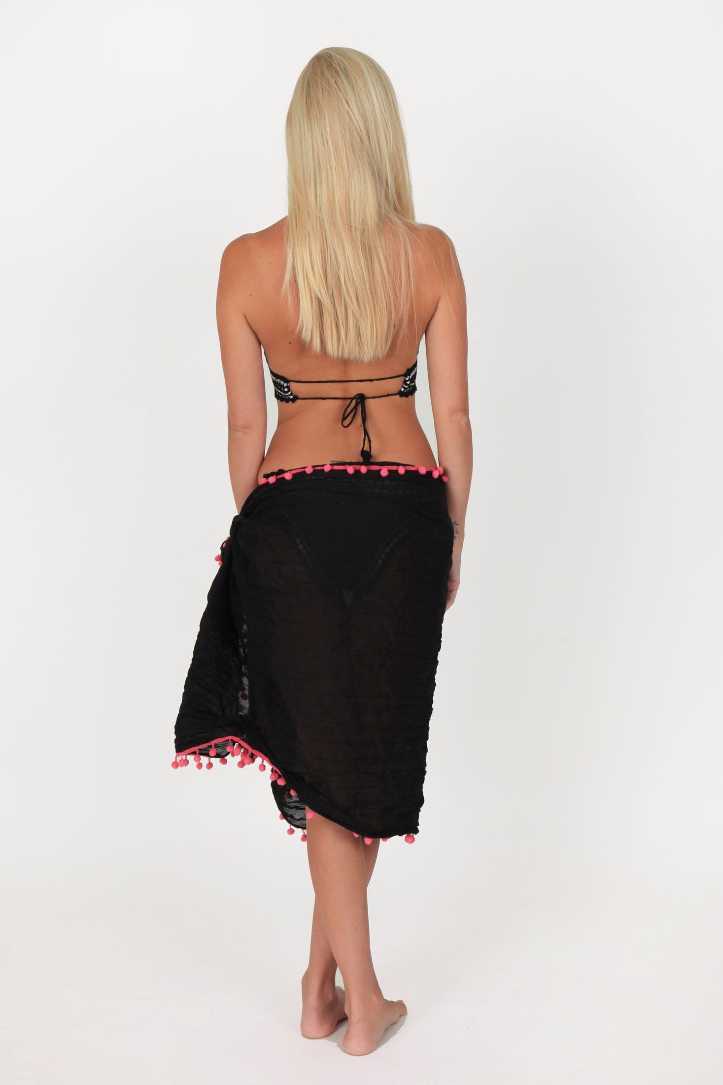 crochet bikini black